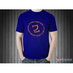T-Shirt estampada (azul)