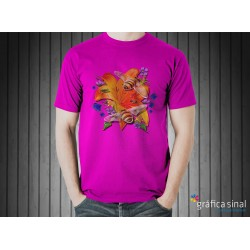 T-Shirt estampada (roxa)