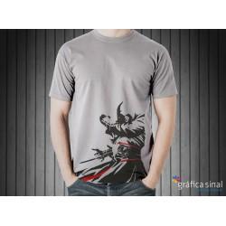T-Shirt estampada (cinzenta)