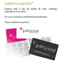 Cartões e catalogos