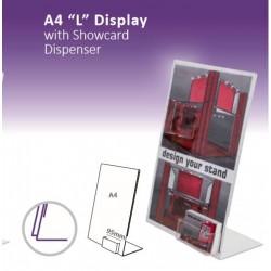 """A4 """"L"""" com cartão de visita Display"""
