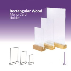 Rectangular Wood Menu Card