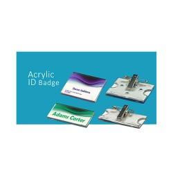 Crachá de Identificação em Acrlico - Acrylic Id Badge