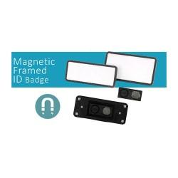 Crachá de Identificação Emoldurado c Íman - Magnetic Framed Id Badge