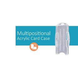 Crachá de Identificação Multi-posicional em Acrílico - Multipositional Acrylic Card Case